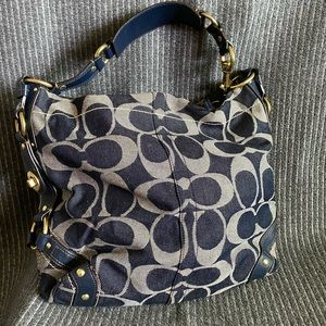 Coach Carly Denim Hobo